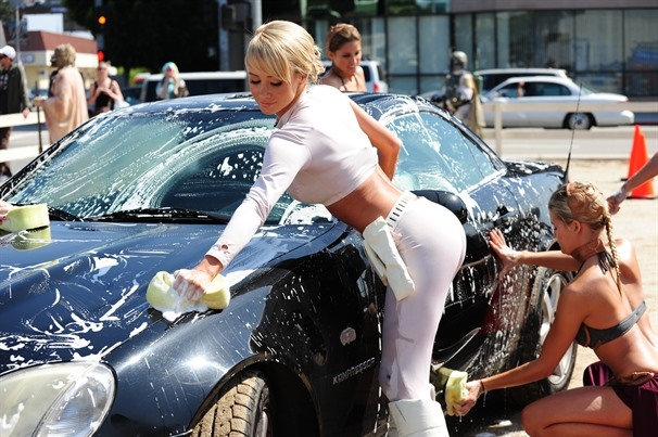 Wake Up, You're Not Dreaming. Hot, Soapy Star Wars Slave Car Wash