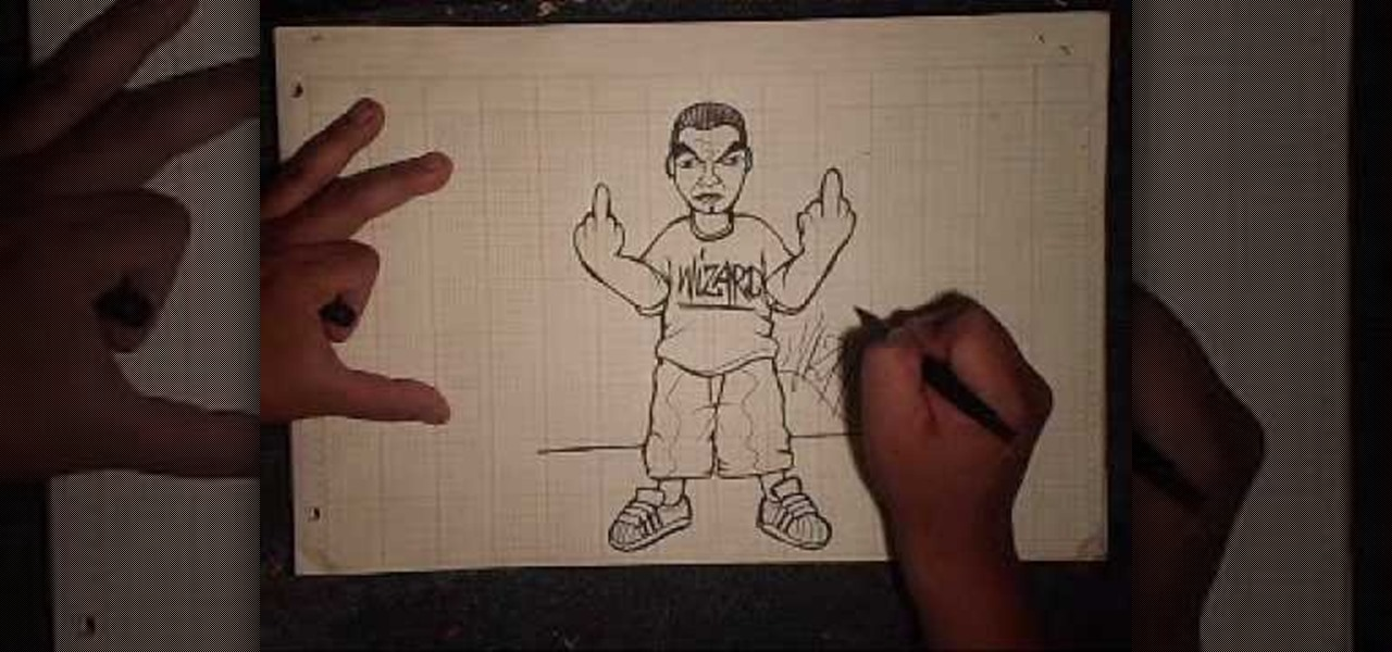 How to Draw a character flipping his finger « Graffiti ...