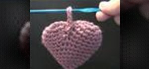Crochet a puffy Valentine heart