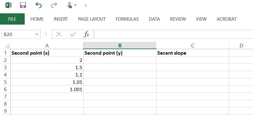 how to draw tangent line in excel
