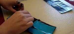 Make a duct tape wallet