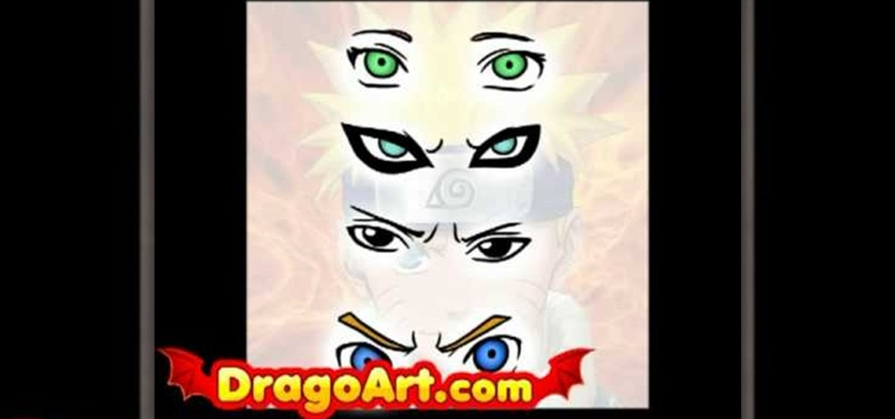 How To Draw Naruto Character Eyes Drawing Illustration