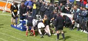 Build the rugby scrum from the back row