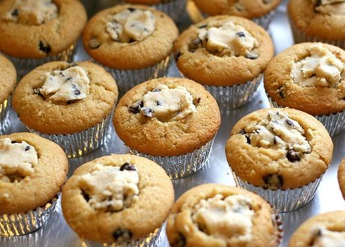 RECIPE: Chocolate Chip Cookie Dough Cupcakes