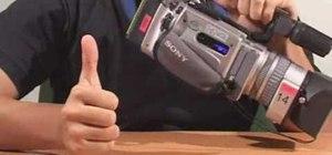 Operate a video camera