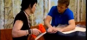 Build a dot ottoman with Todd Oldham and Joan Jett