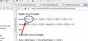 Create a simple array function with PHP