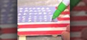 Make an American flag out of popsicle sticks
