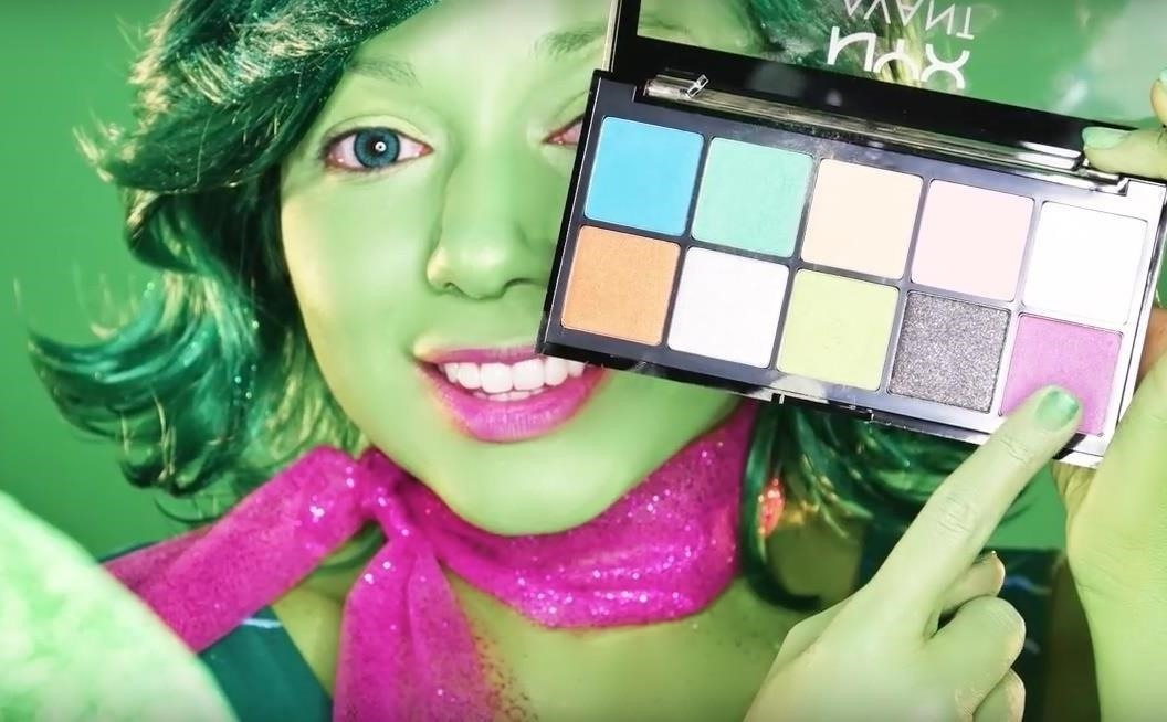 Inside Out: DIY Disgust Costume & Makeup for Halloween