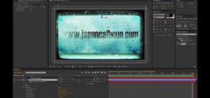 Create a grungy title text sequence in Adobe After Effects CS5