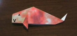 Fold a Japanese origami Children's Day carp