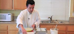 Make a crème brûlée dessert