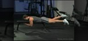 Do flat bench freestyle kicks