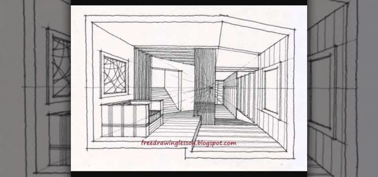how to draw a large room with sectioned off spaces drawing illustration wonderhowto. Black Bedroom Furniture Sets. Home Design Ideas