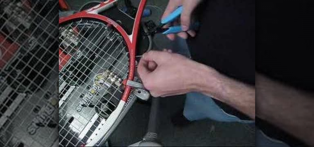 How To: Pass string thru blocked grommets on a tennis racket