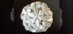 Origami a chrysanthemum buckyball