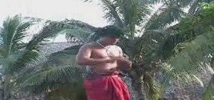 Open a coconut Samoan style