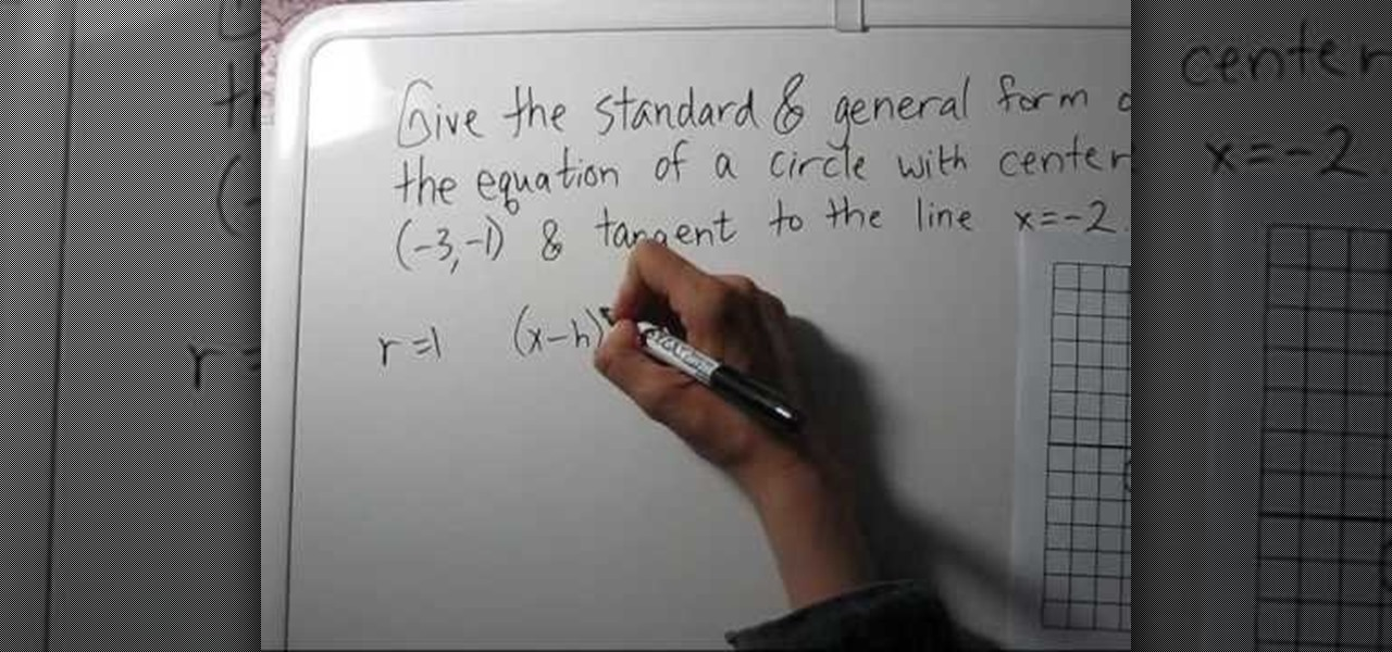 How To Find The Equation Of A Circle Given Center Tangent Math