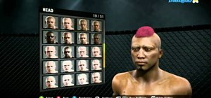Customize your character in EA Sports MMA for the Xbox 360