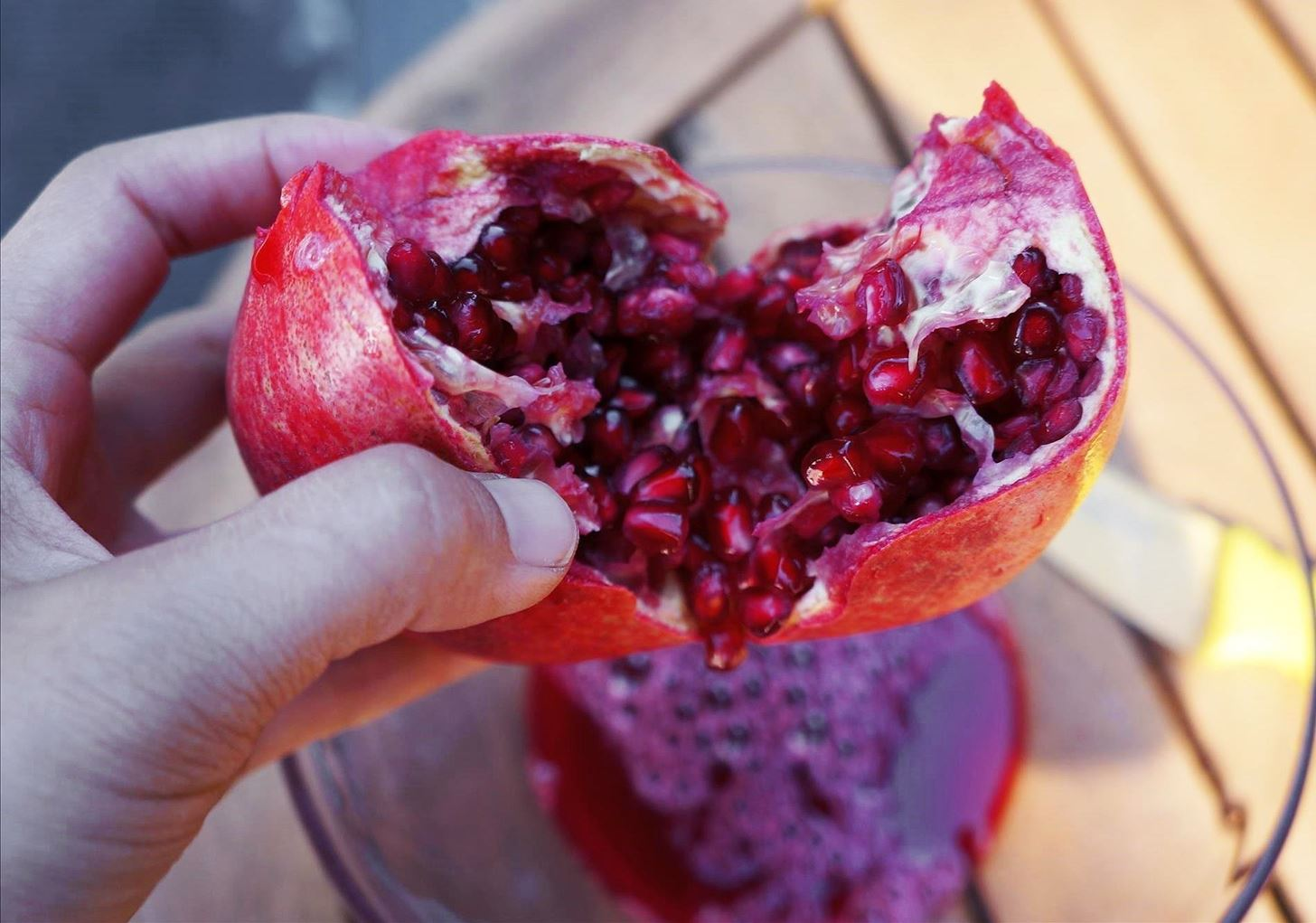 Deseed a Pomegranate with Your Bare Hands (& No Mess)