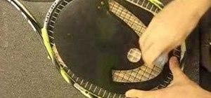 Stencil a tennis racket