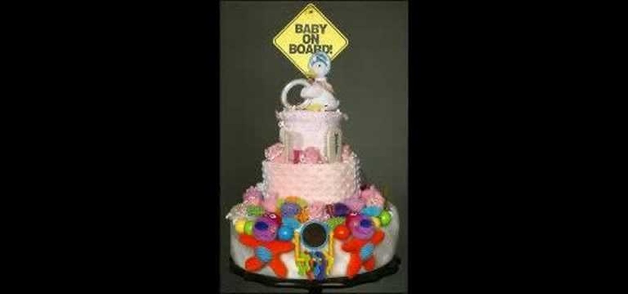 How To Make A Diaper Cake For Any Baby Shower Cake Decorating