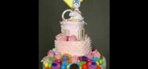 Make a diaper cake for any baby shower