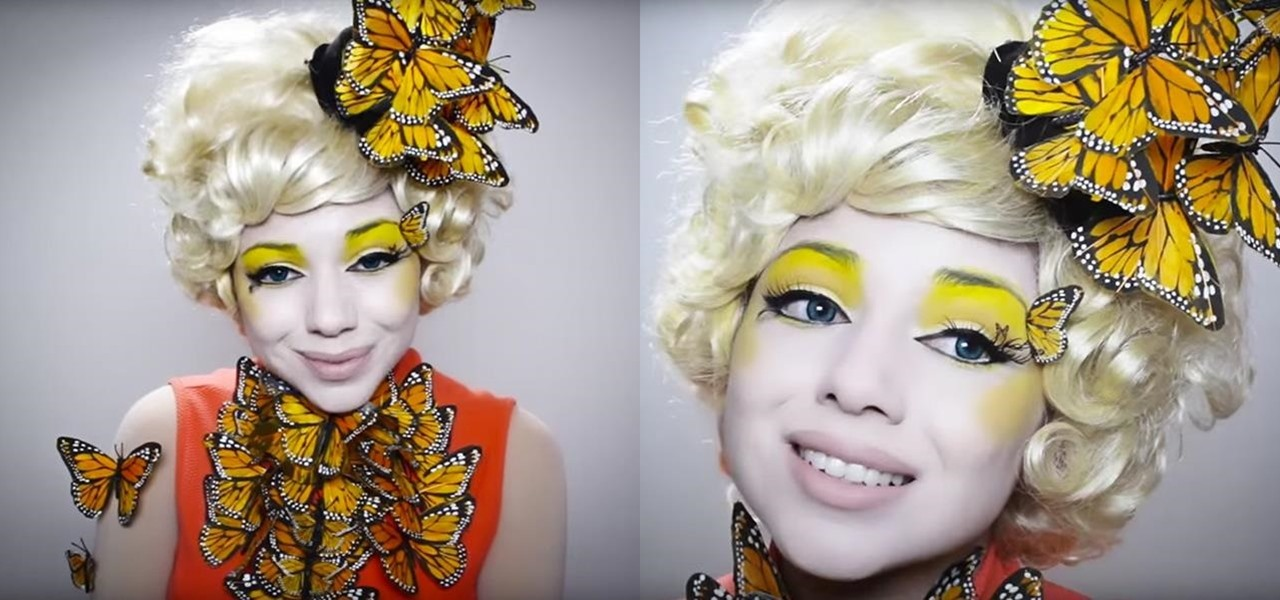 DIY Effie Trinket Butterfly Makeup & Costume for Halloween