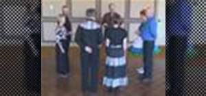 Square dance the Allemande Left, Right Hand Turn