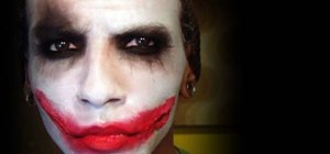 Recreate Heath Ledger Joker makeup