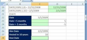 Work with date functions (TODAY, NOW, DAY) in MS Excel