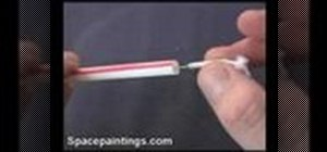 Make a mini blow dart gun