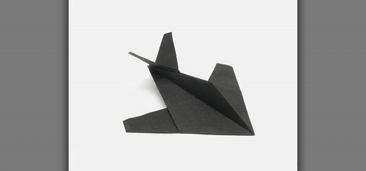 How To Make A Cool Origami Stealth Fighter With Tavin WonderHowTo