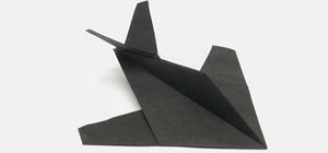 Make a cool origami stealth fighter with Tavin