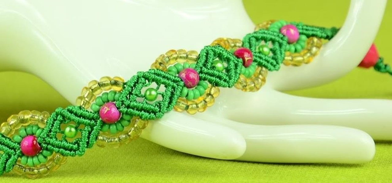 Provence Flower Bracelet Tutorial