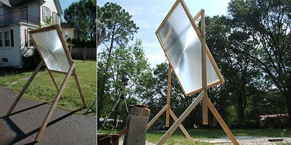 How to Make a Solar Death Ray with an Old Projection TV
