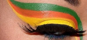 "Create a ""tropical bird"" eye makeup look"