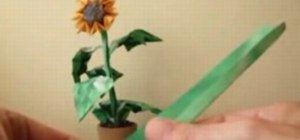Origami a beautiful little sunflower