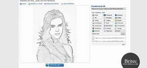 Convert a digital image into a virtual pencil drawing with Dumpr