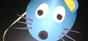 Make a mouse hat with construction paper