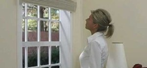 Install outside mount Roman shades