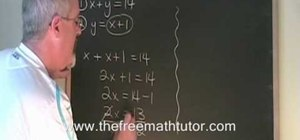 Use the substitution method to solve problems