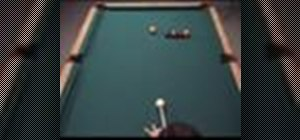 Hit a cut shot and a carom shot in pool