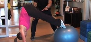 Tone your entire core with an exercise ball move