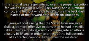 Do a Flash Kick - FADC - Sonic Hurricane combo as Guile in Street Fighter 4