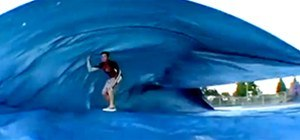 No Beach? No Problem. Go Surfing With a Tarp and a Skateboard