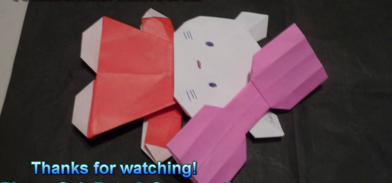 How To Fold An Adorable Origami Hello Kitty For Beginners WonderHowTo