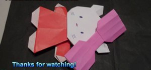 Fold an adorable origami Hello Kitty for beginners