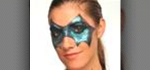 Create a glamorous Halloween bat makeup mask