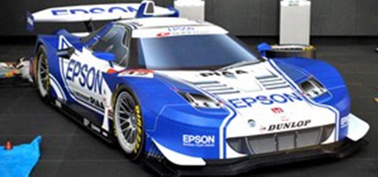 Howto Build A Papercraft Nsx Super Gt Race Car